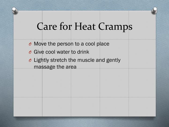 Care for Heat Cramps