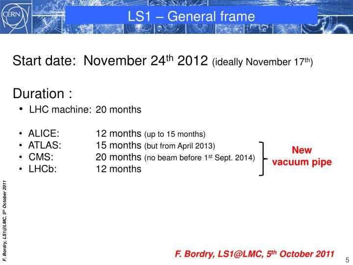 LS1 – General frame
