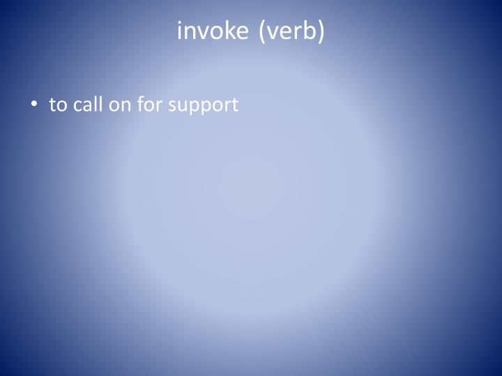 invoke (verb)