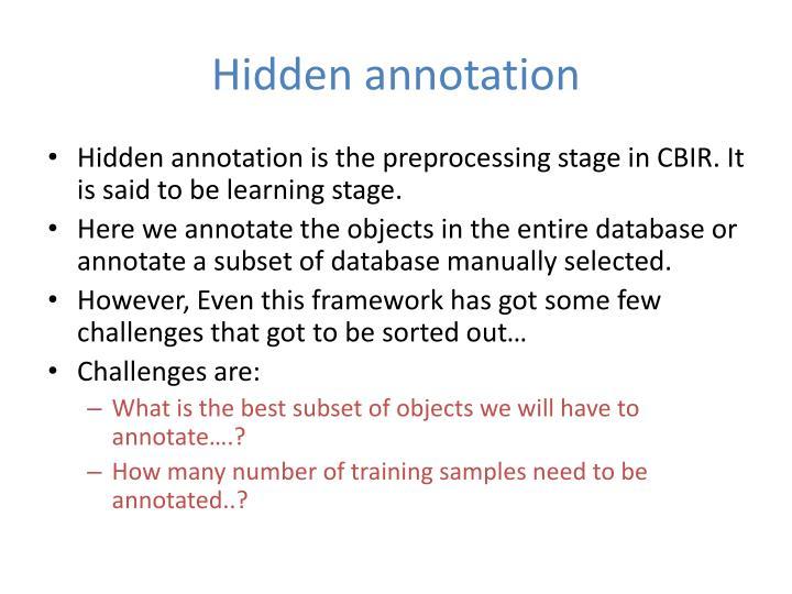 Hidden annotation