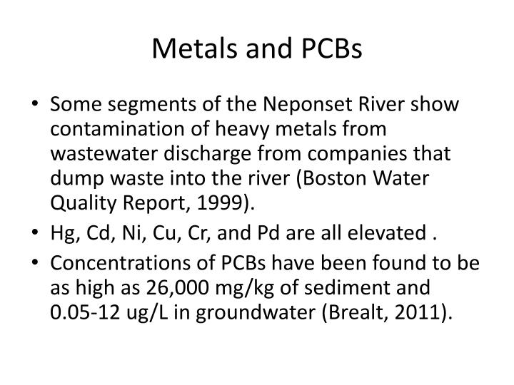 Metals and PCBs