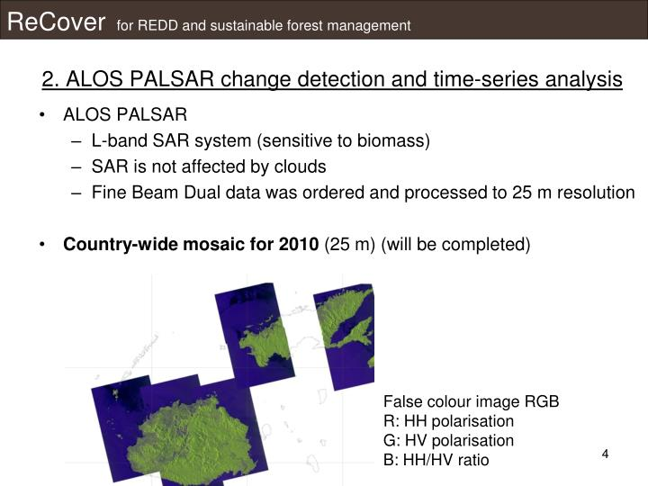 2. ALOS PALSAR change detection and time-series analysis