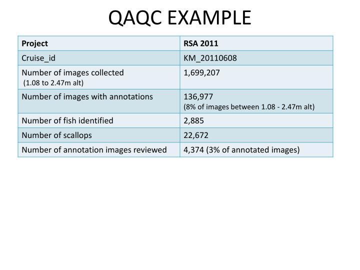 QAQC EXAMPLE
