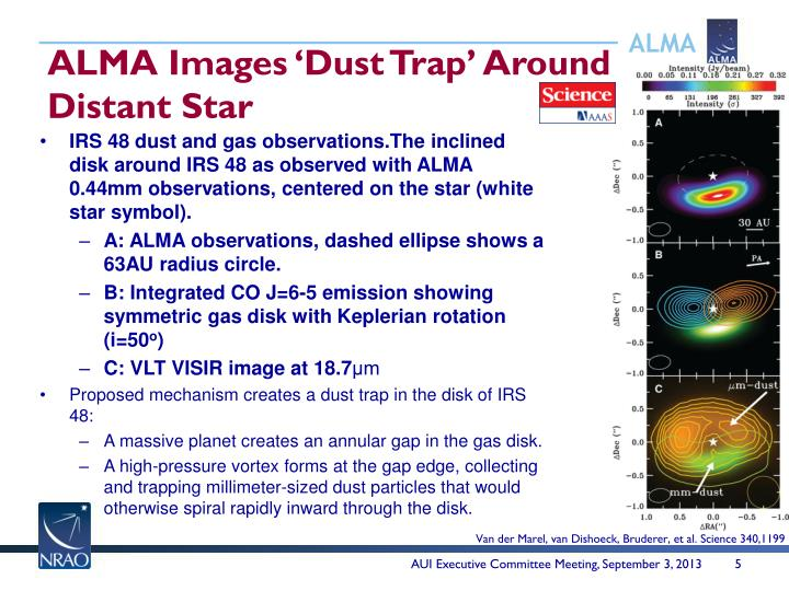 ALMA Images 'Dust Trap' Around Distant Star