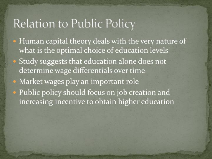 Relation to Public Policy