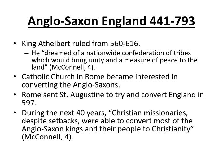 Anglo-Saxon England 441-793