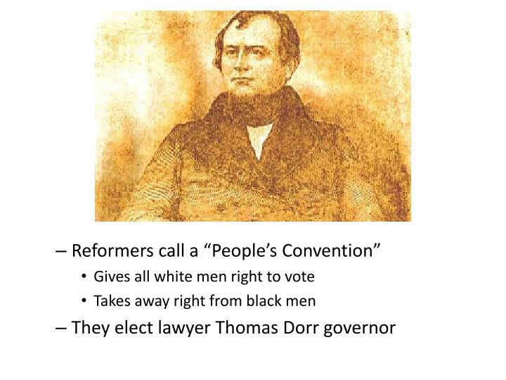 "Reformers call a ""People's Convention"""