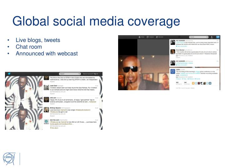 Global social media coverage