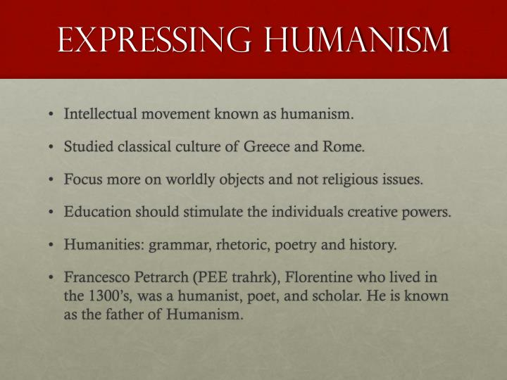 Expressing Humanism