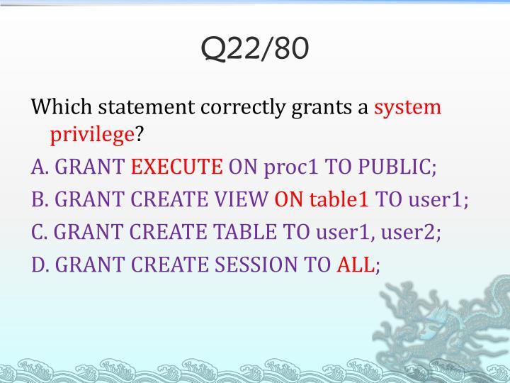 Q22/80