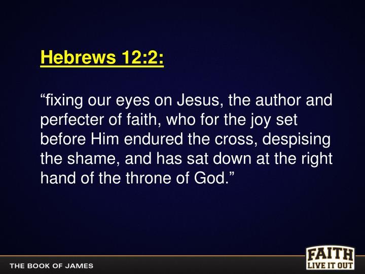 Hebrews 12:2: