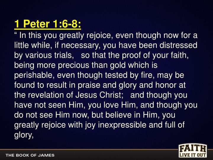 1 Peter 1:6-8: