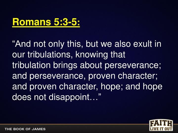 Romans 5:3-5