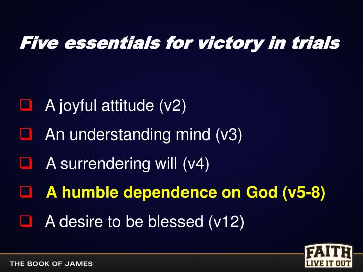 Five essentials for victory in trials