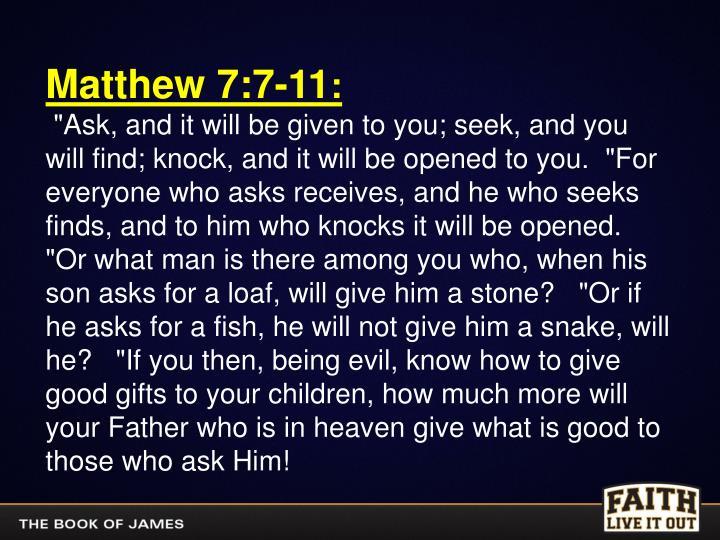 Matthew 7:7-11