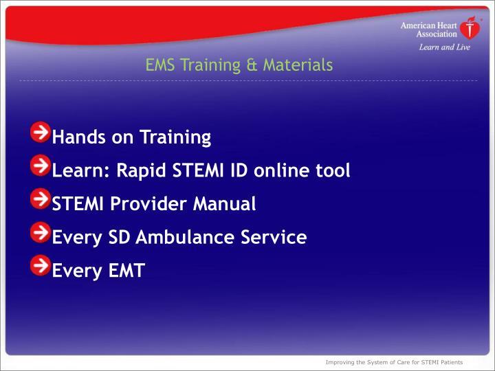 EMS Training & Materials