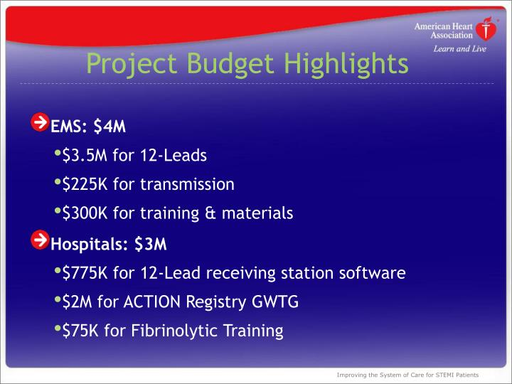 Project Budget Highlights