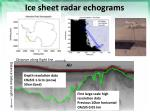 ice sheet radar echograms