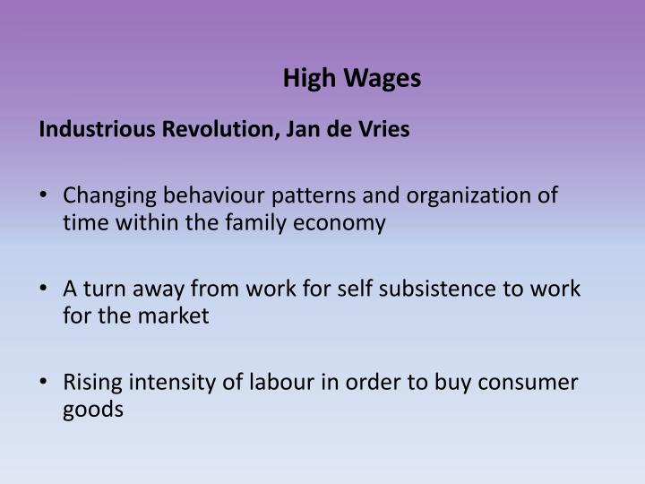High Wages