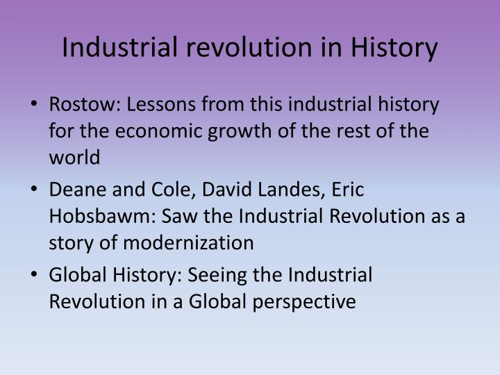Industrial revolution in History