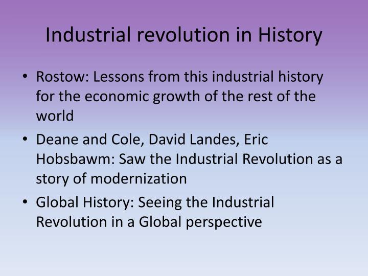 Industrial revolution in History
