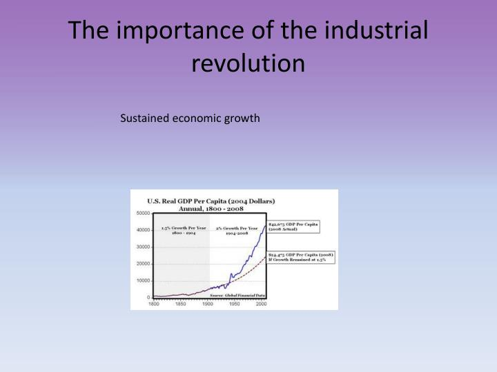 The importance of the industrial revolution1