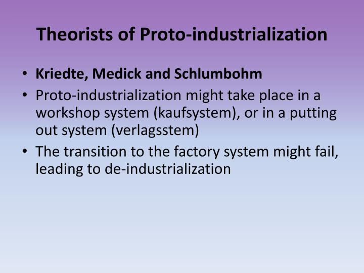 Theorists of Proto-industrialization