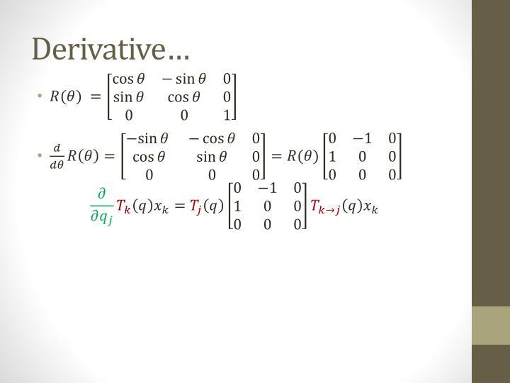 Derivative…