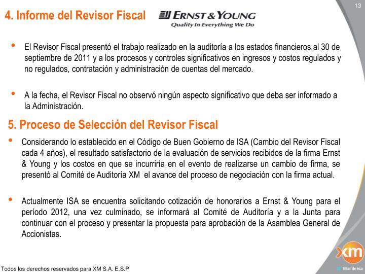 4. Informe del Revisor Fiscal