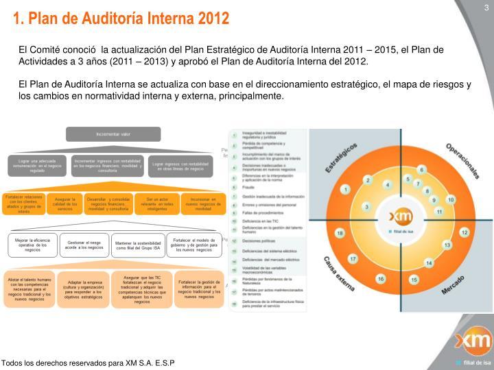 1. Plan de Auditoría Interna 2012
