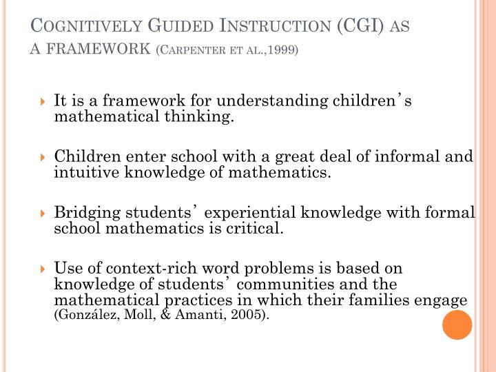 cgi cognitively guided instruction