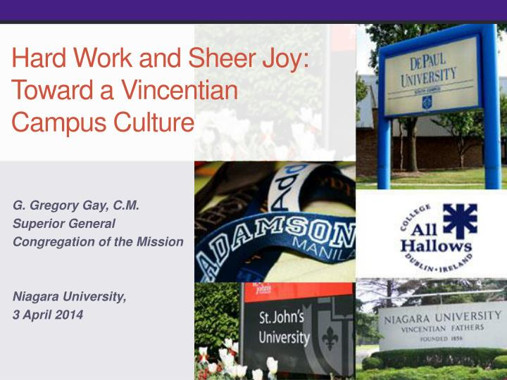 Hard work and sheer joy toward a vincentian campus culture