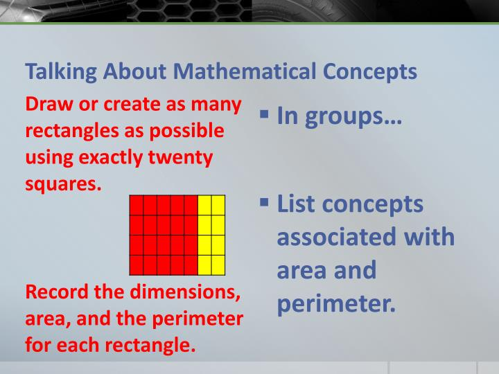 Talking About Mathematical Concepts