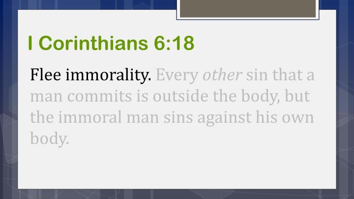 I Corinthians 6:18