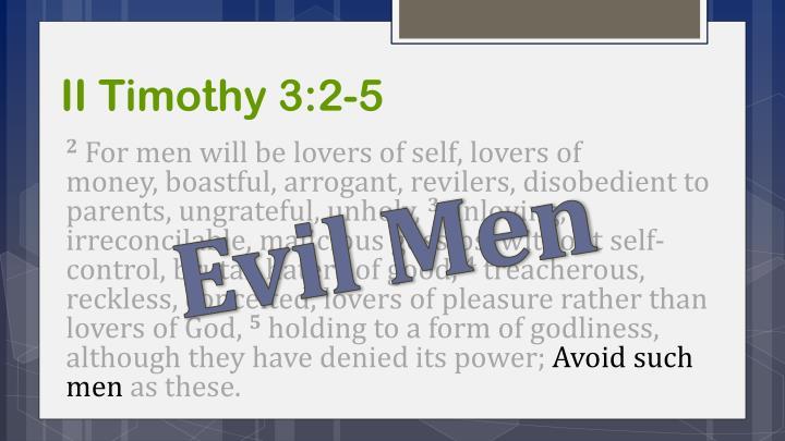 II Timothy 3:2-5