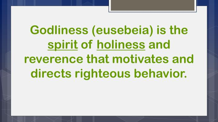 Godliness (