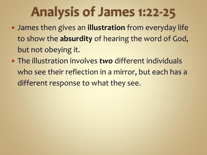 Analysis of James 1:22-25