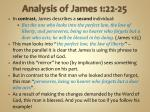 analysis of james 1 22 254