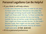 personal legalisms can be helpful2