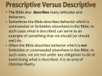 prescriptive versus descriptive1