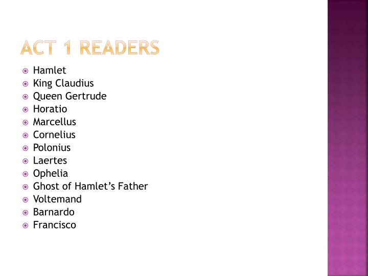 Act 1 Readers