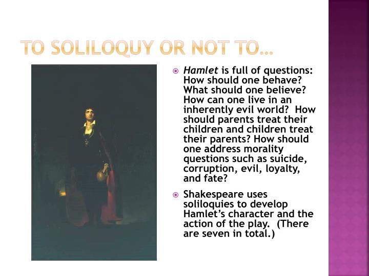 To Soliloquy or
