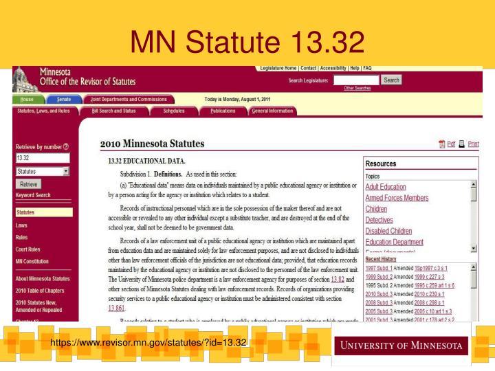 MN Statute 13.32