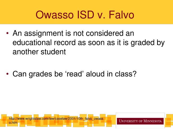 Owasso ISD v.