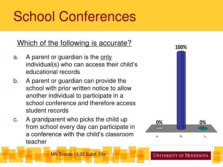 School Conferences
