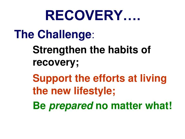 RECOVERY….