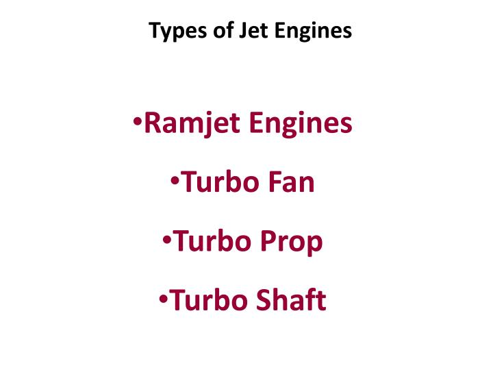 Types of Jet Engines