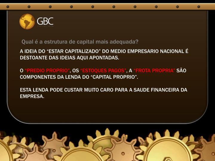 Qual é a estrutura de capital mais adequada?