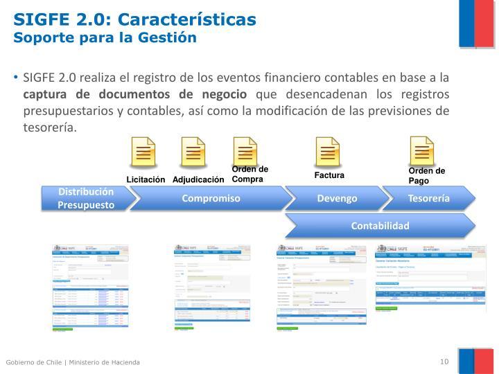 SIGFE 2.0: Características