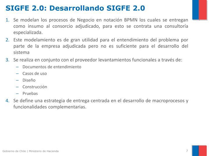 SIGFE 2.0: Desarrollando SIGFE 2.0